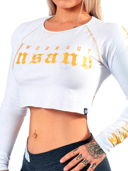 Crop Long Sleeve Gold Gothic