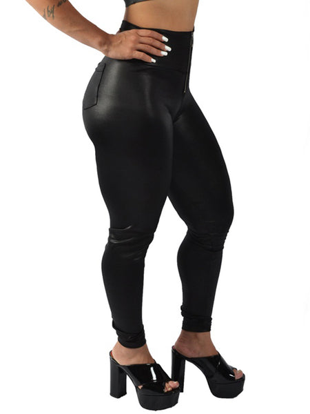 High Waist Shiny Cire Legging