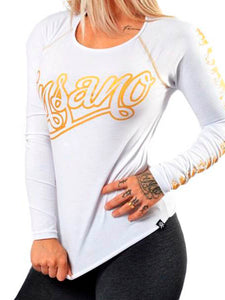 Long Sleeve Gold Curly