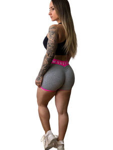 Two Tone Scrunch Bum Shorts