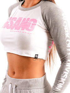 Two Tone Crop Long Sleeve Pink Destroyer