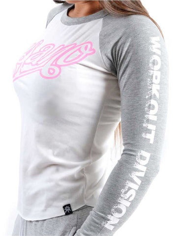 Two Tone Long Sleeve Pink Print