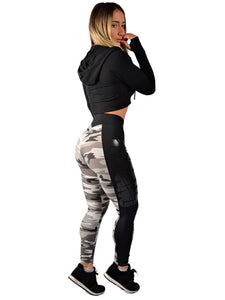 V Waist Side Band Camo Legging