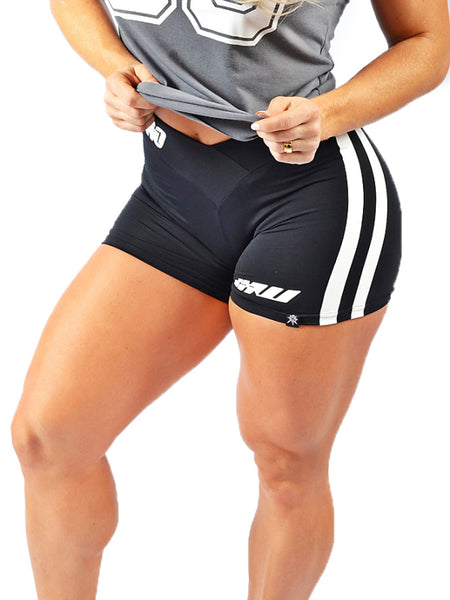 Side Stripes V Waist Shorts