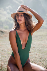 Sonica one piece swimsuit in khaki