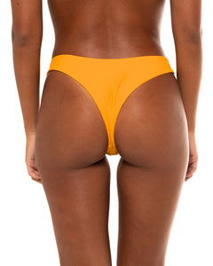 Minima bikini bottom in Mustard Yellow (back)