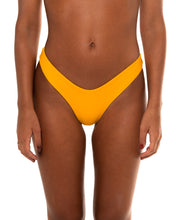 Load image into Gallery viewer, Minima bikini bottom in Mustard Yellow (front)