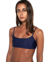 Load image into Gallery viewer, Minima bikini top in Navy (front)