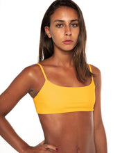 Load image into Gallery viewer, Minima bikini top in Mustard Yellow (front)