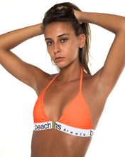 Load image into Gallery viewer, Sperta bikini top in Neon Orange (front)
