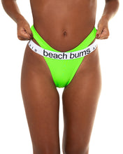 Load image into Gallery viewer, Tigra bikini bottom in Neon Green (front)