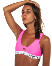 Load image into Gallery viewer, Tigra bikini top in Neon Pink (front)