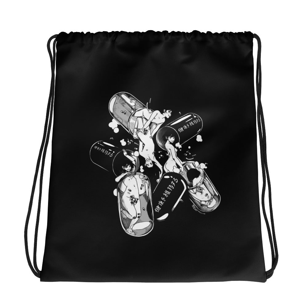 STAY HEALTHY Drawstring bag