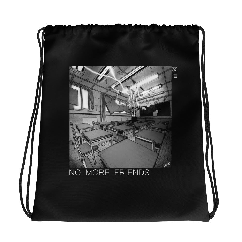 NO MORE FRIENDS Drawstring bag