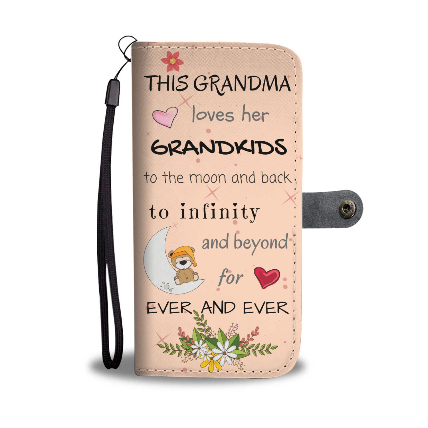 Grandma loves Grandkids Wallet Phone Case