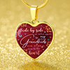 Grandkids Red Heart Necklace