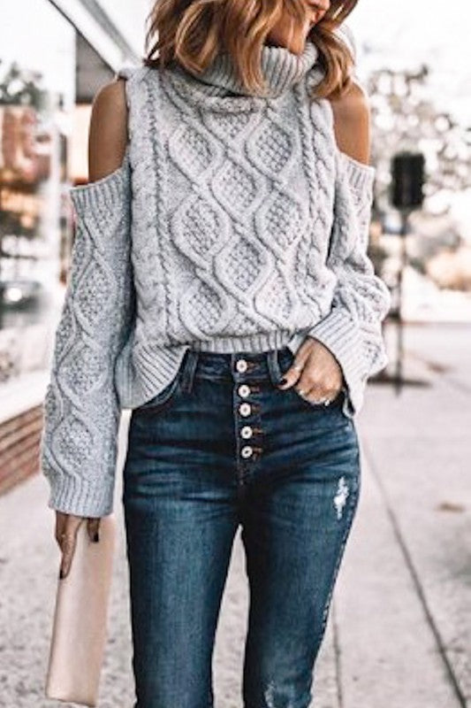 NORA CABLE KNIT SWEATER
