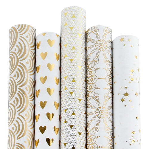 25 Sheets 19.5 x 27.5 inches Pack Bags RUSPEPA Gift Wrapping Tissue Paper Art Crafts DIY Metallic Gold Star Print White Tissue Paper Bulk for Gift Wrap