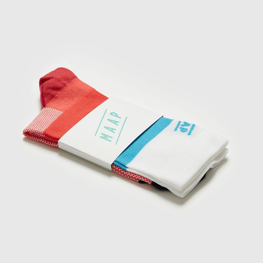 MAAP Fat Stripe Sock Red/White/Blue | The CyclingTips Emporium - 3