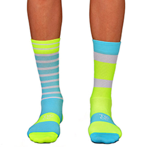 TIC Turquoise/ Yellow À Bloc Socks | The CyclingTips Emporium - 1