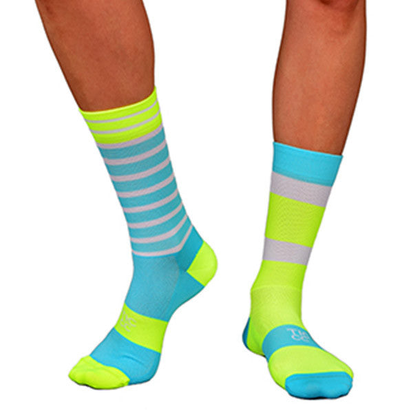 TIC Turquoise/ Yellow À Bloc Socks | The CyclingTips Emporium - 2
