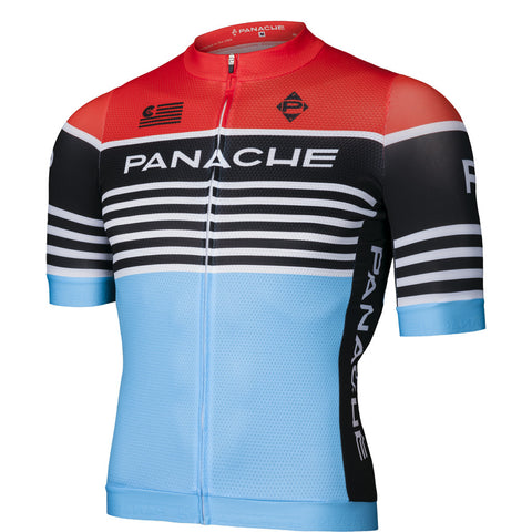 Panache Team Stripe Jersey - Red/ Blue | The CyclingTips Emporium - 1