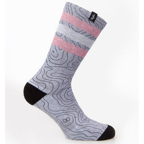 Pacific & Co Map Grey Socks | The CyclingTips Emporium - 1