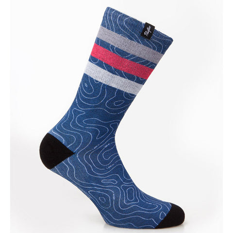 Pacific & Co Map Blue Socks | The CyclingTips Emporium - 1