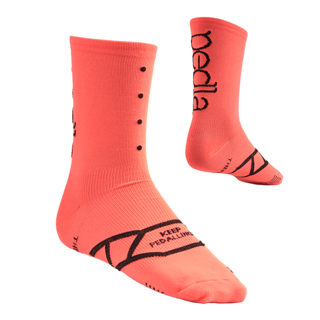 Pedla Spinners Socks Watermelon | The CyclingTips Emporium - 1