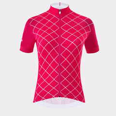 La Passione Women's Checked Raspberry Jersey