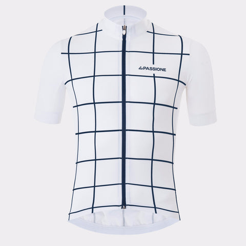 La Passione Square White Jersey | The CyclingTips Emporium - 1