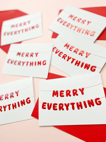 Merry Everything Christmas card by Ricicle Cards