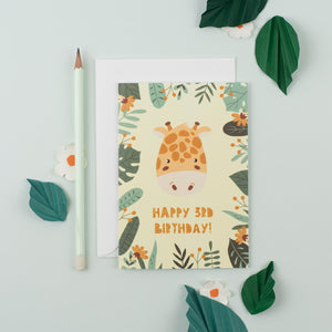 Pack of 6 - 3rd Birthday Children's Card