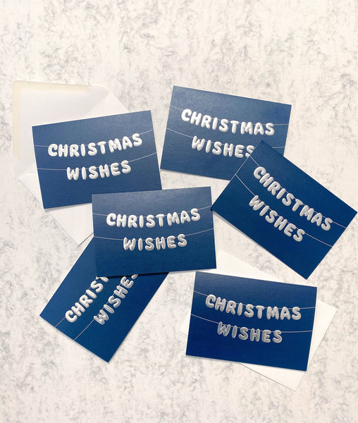 Christmas Wishes Card - pack of 6