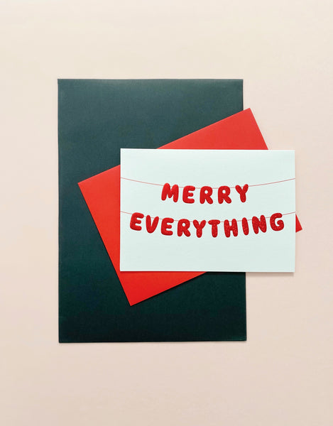 Merry Everything Christmas Card - pack of 6