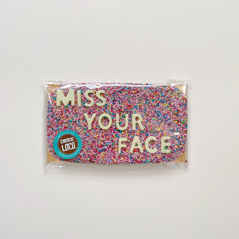Miss Your Face Chocolate Bar
