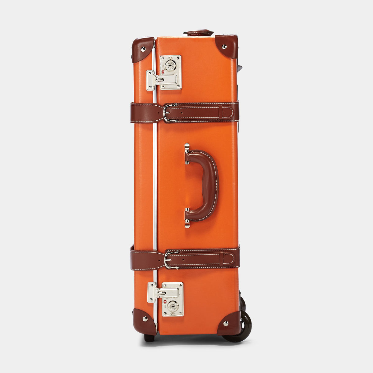 The Anthropologist Stowaway in Orange - Vintage Style Leather Case - Exterior Side