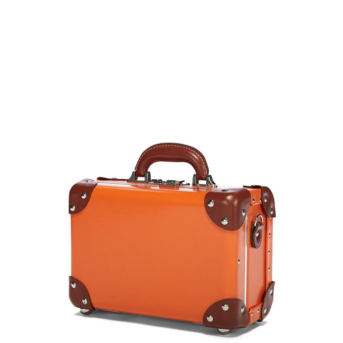 The Anthropologist Vanity in Orange - Vintage Style Leather Case - Exterior Front