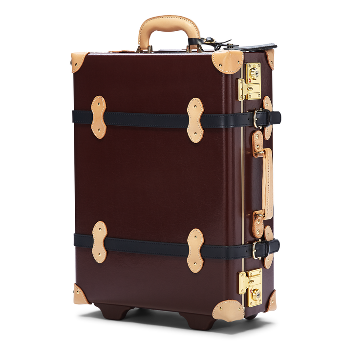 The Architect Carryon in Burgundy - Classic Style Hand Luggage - Exterior Front