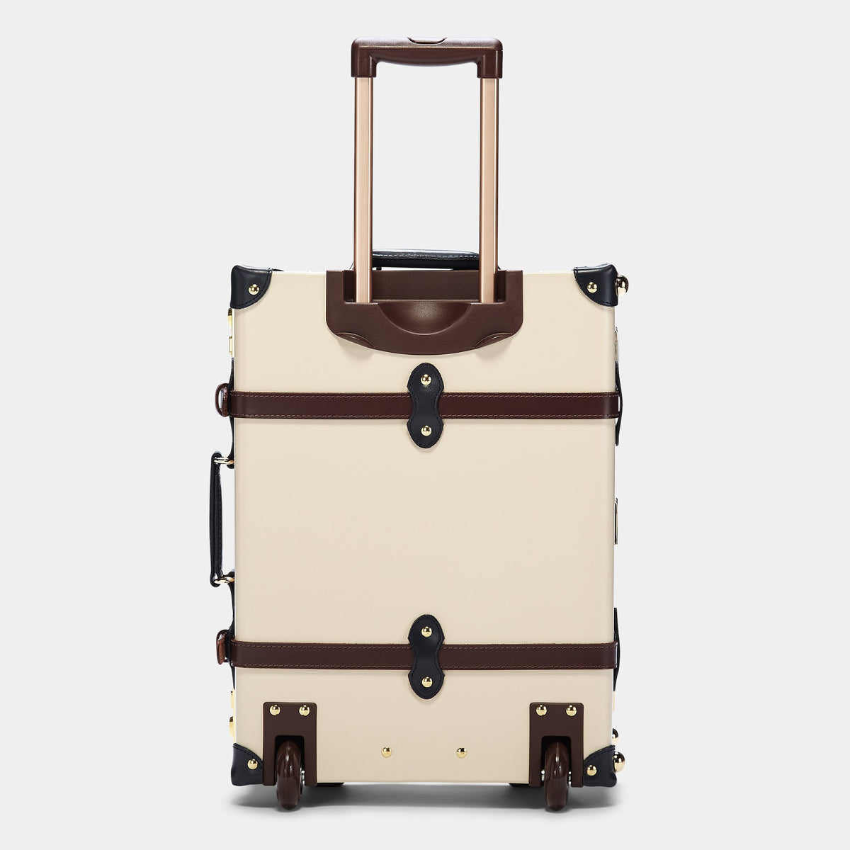 The Architect Carryon in Cream - Vintage Style Leather Case - Exterior Back with Model