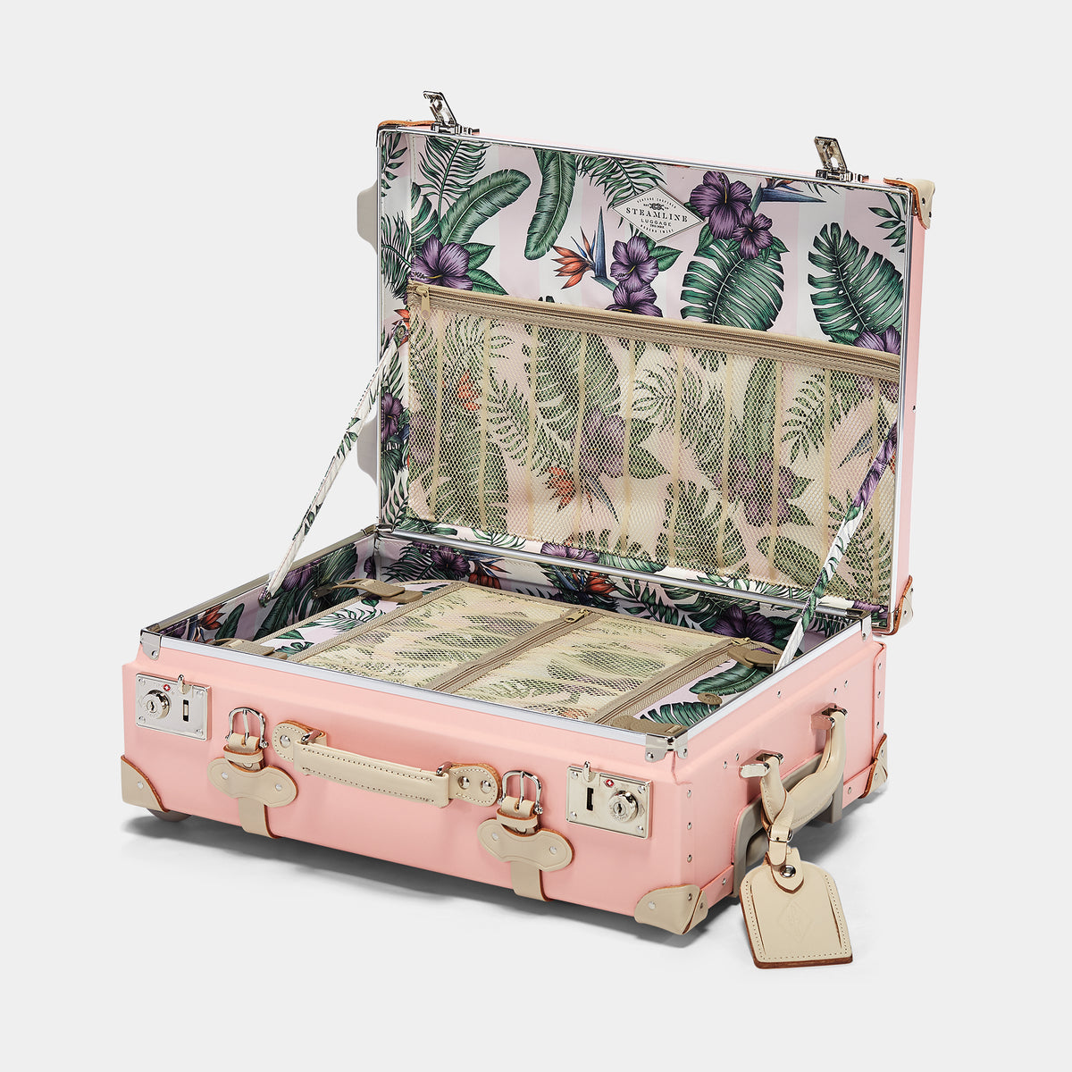 The Botanist Carryon in Pink - Vintage-Inspired Carry On Case - Interior