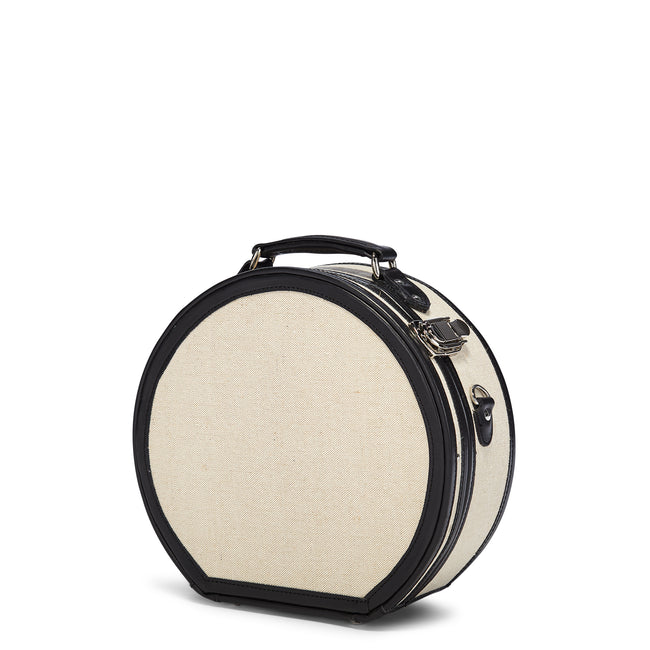 The Editor Hatbox Small in Black - Hat Box Luggage - Exterior Front