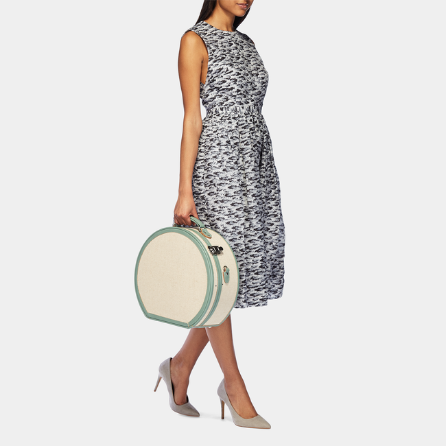 The Editor - Sea Green Large Hatbox