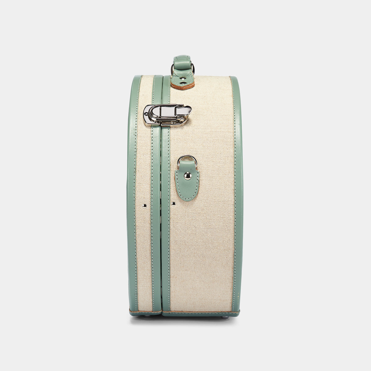 The Editor Hatbox Large in Seagreen - Hat Box Luggage - Exterior Side