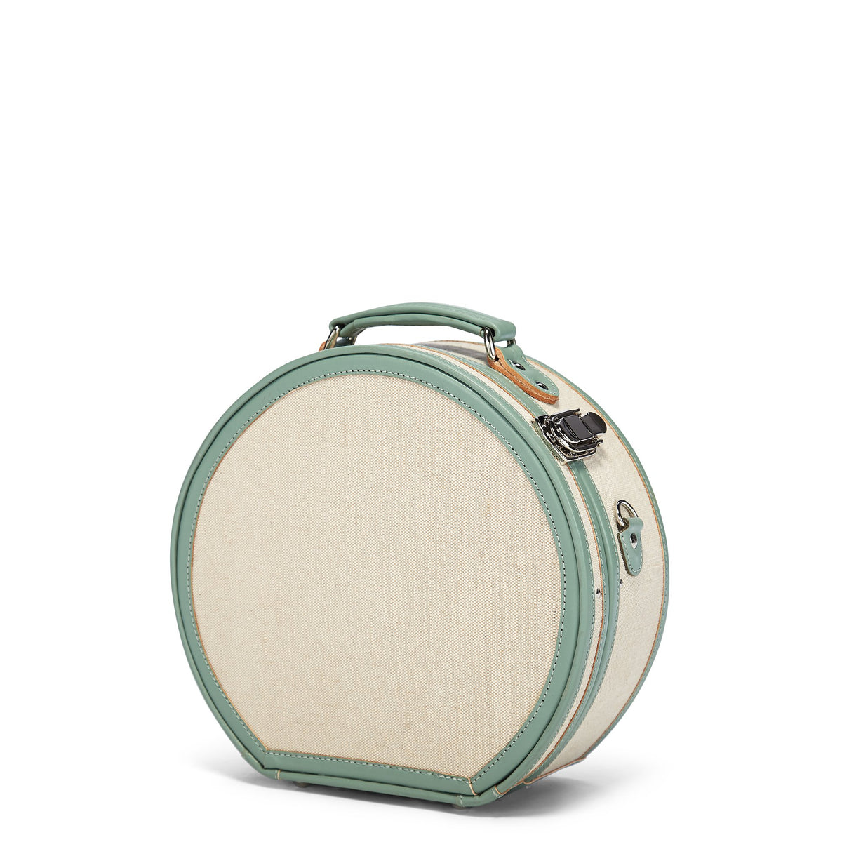 The Editor Hatbox Small in Seagreen - Hat Box Luggage - Exterior Front
