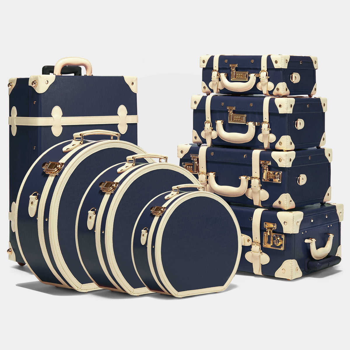 The Entrepreneur - Navy Small Hatbox