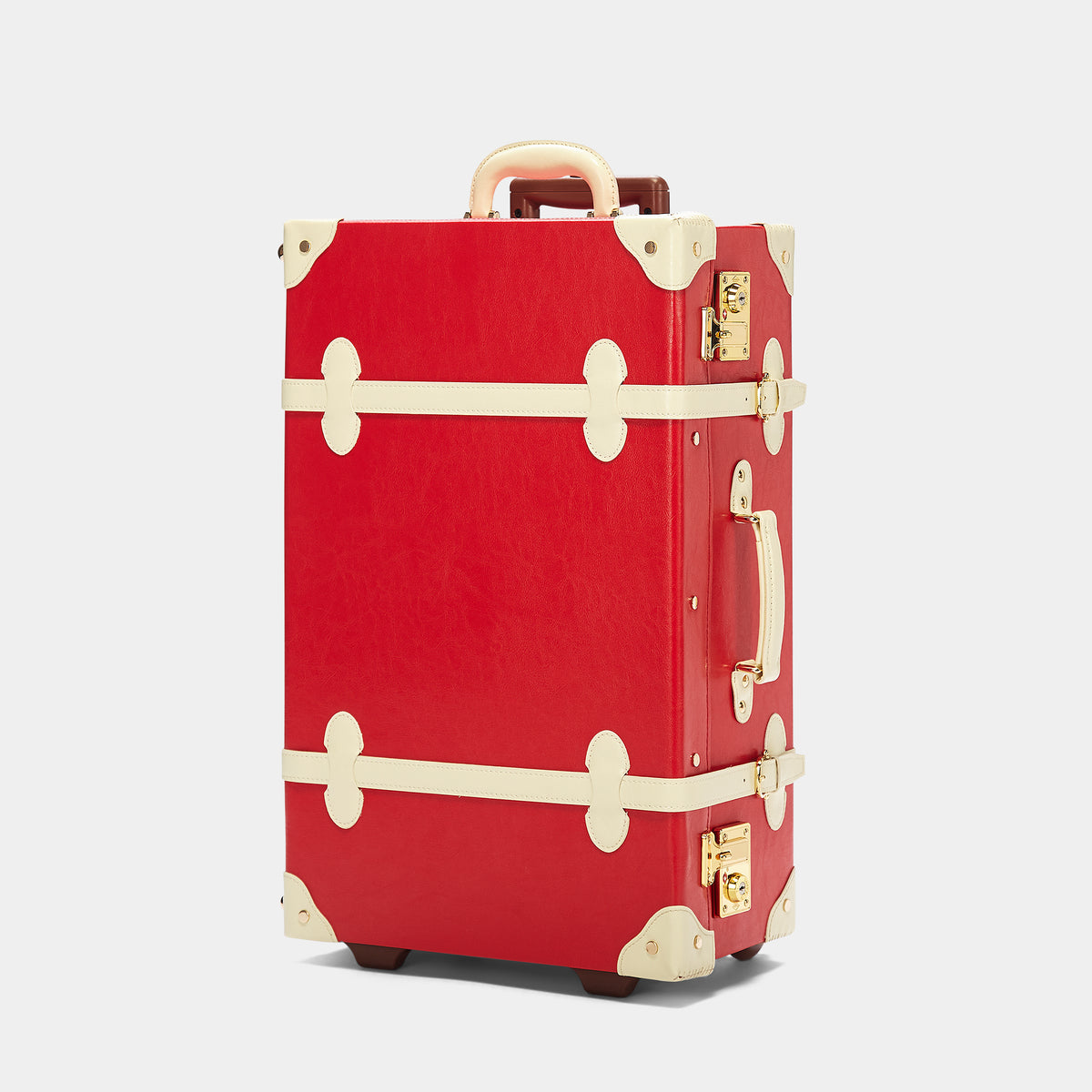 The Entrepreneur Stowaway in Red Lip - Vintage-Inspired Vegan Luggage - Exterior Front