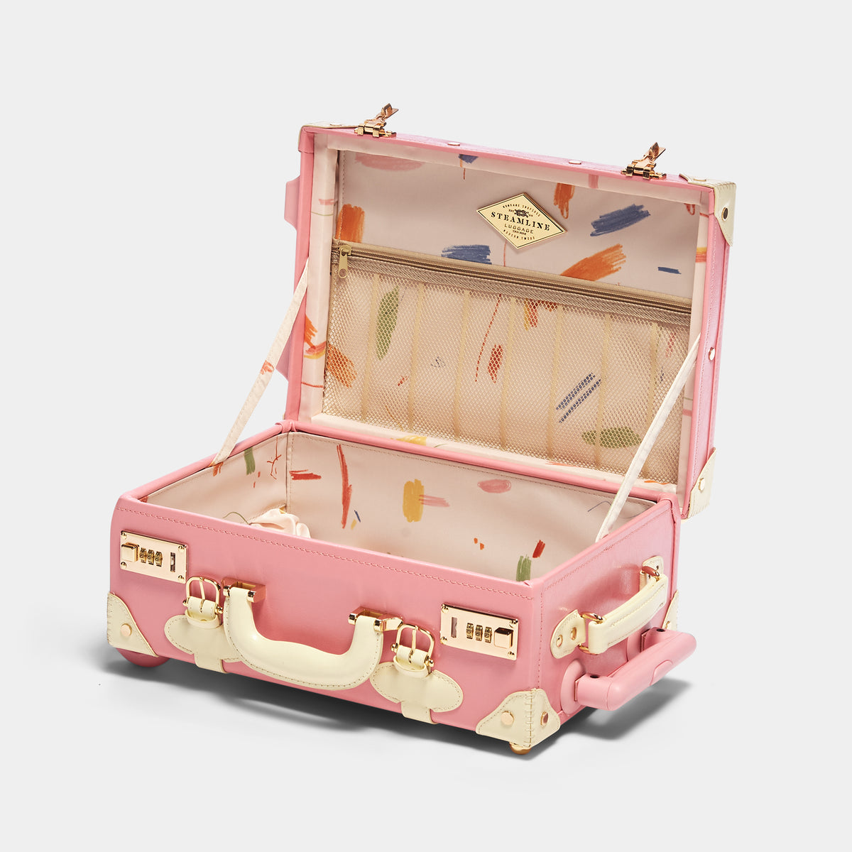The Maisonette X Steamline - Pink Kids Carryon
