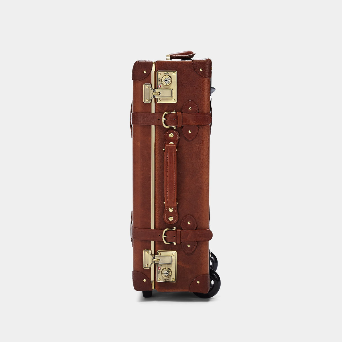 The Pioneer Carryon - Vintage Style leather suitcase - Exterior Front Side