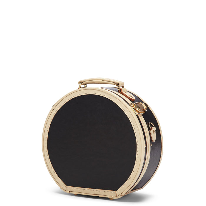 The Starlet Black Small Hat Box - Hat Box Luggage - Exterior Front